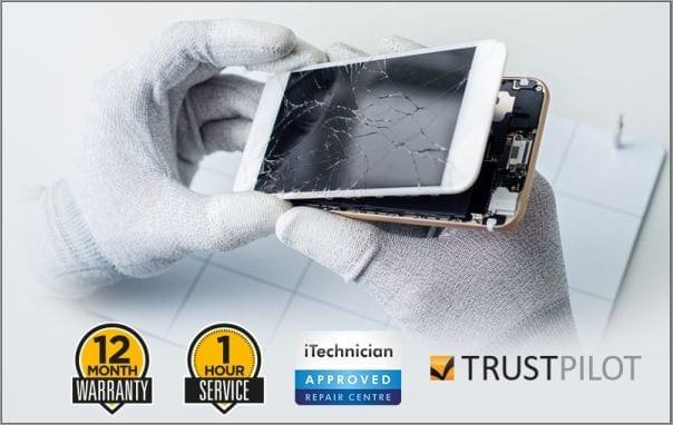 iPhone repair close up