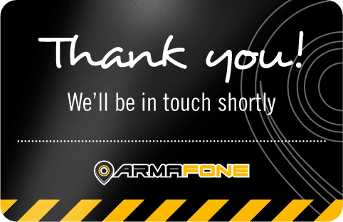 ArmaFone Thankyou message