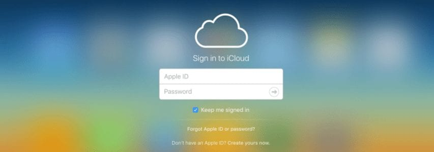 icloud explained - login page image