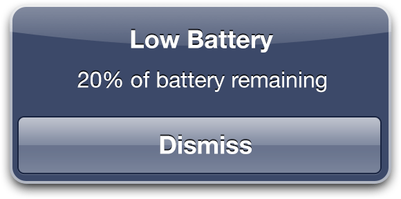 iPhone charging problems - low battery warning image