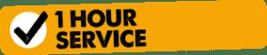 1 hour service logo
