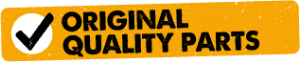 Original quality parts used logo