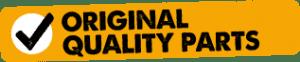 Original quality parts used logo
