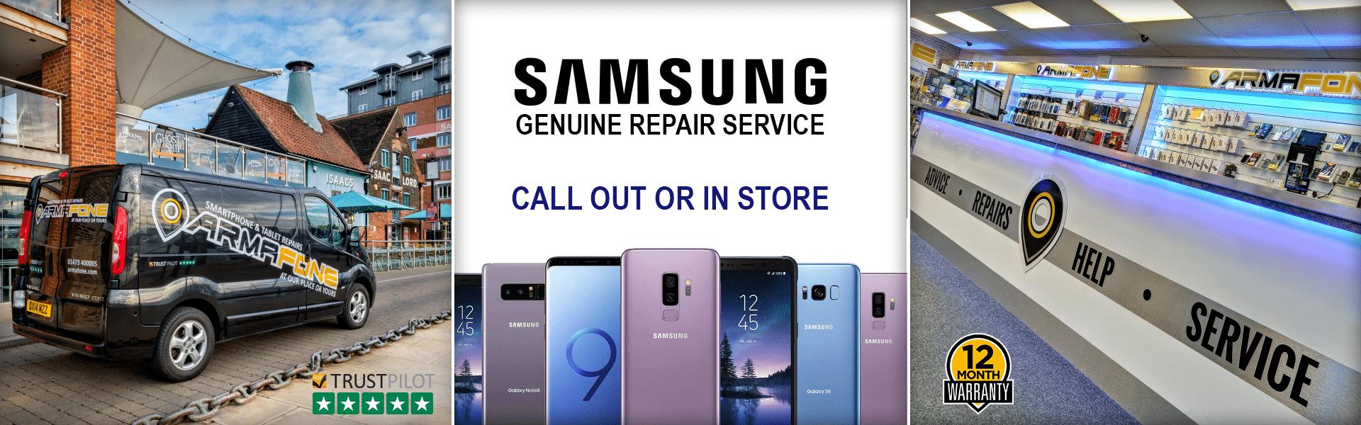 Samsung repair services header