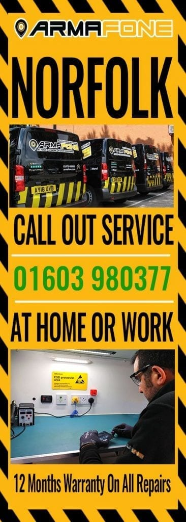 Norwich phone repair call out service graphic