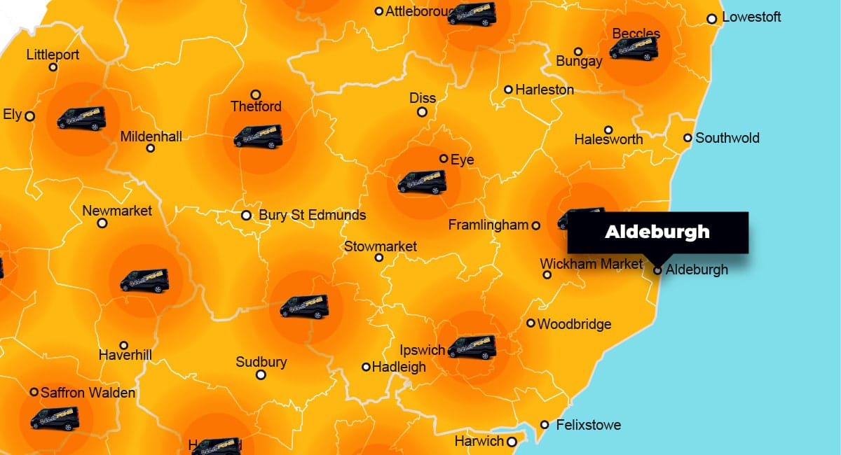 Aldeburgh phone repair - call-out service coverage area