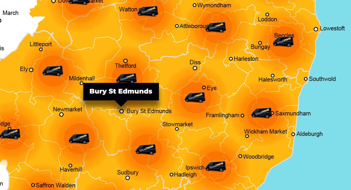 Bury St Edmunds phone repair - call-out service coverage area