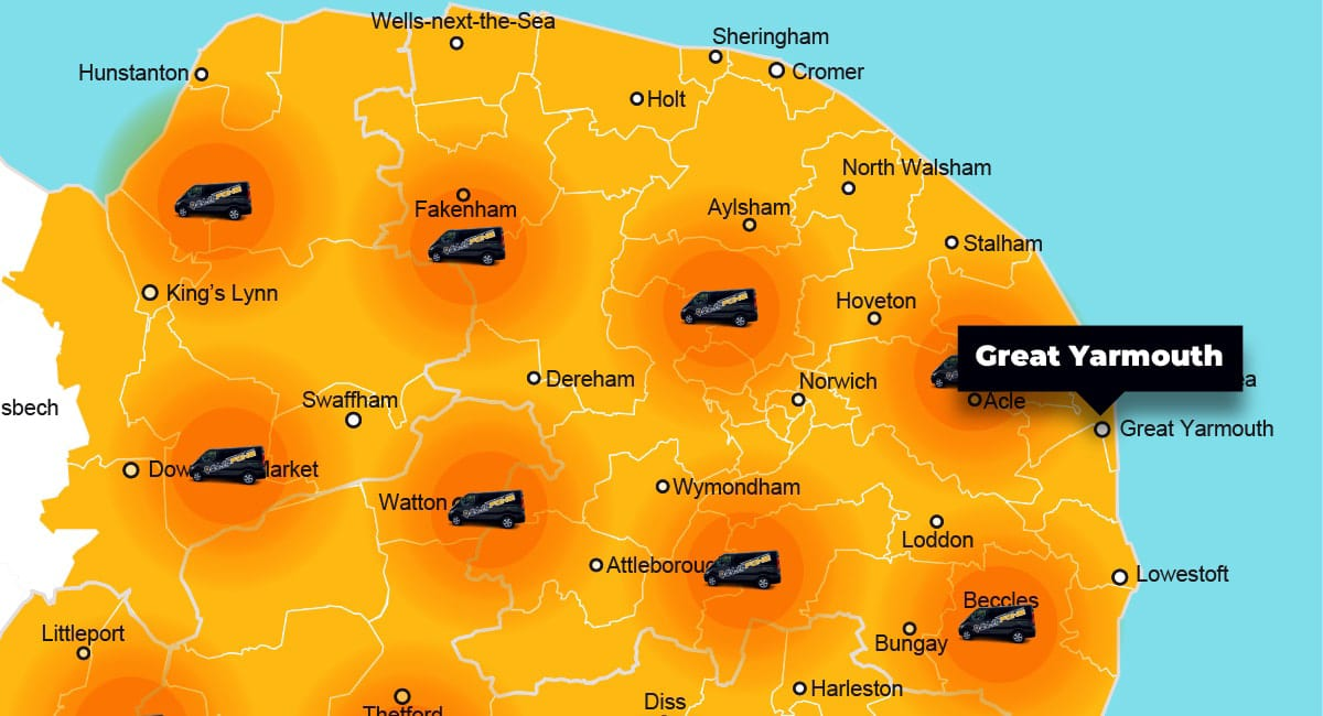 Great Yarmouth phone repair - call-out service coverage area