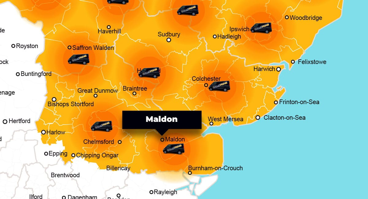 Maldon phone repair - call-out service coverage area