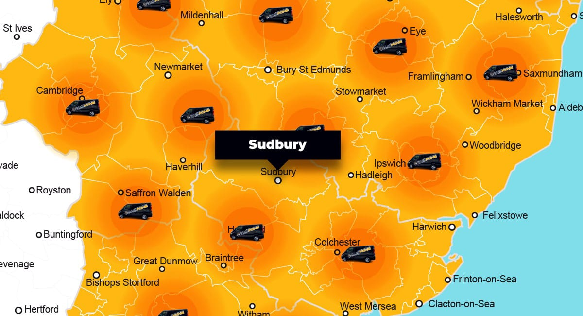 Sudbury phone repair - call-out service coverage area