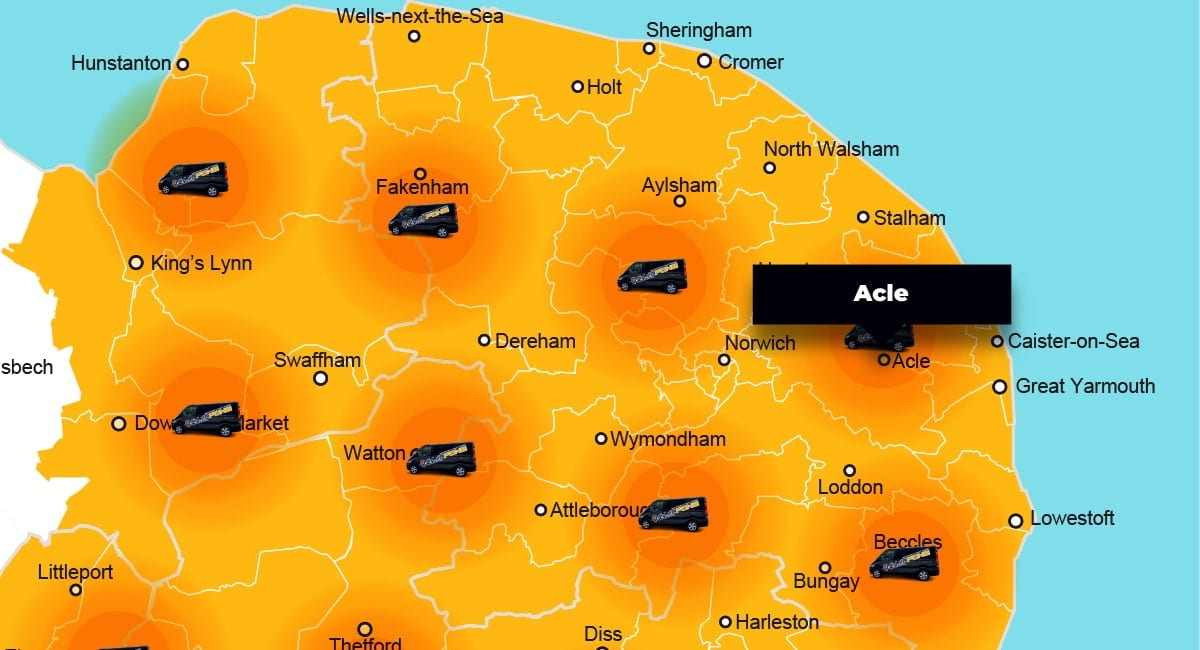 Acle phone repair - call-out service coverage area