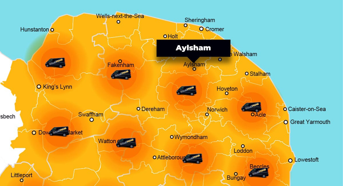 Aylsham phone repair - call-out service coverage area