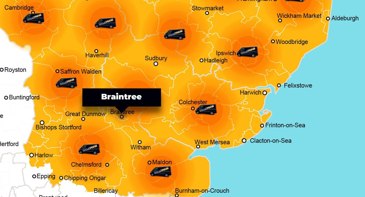 Braintree phone repair - call-out service coverage area