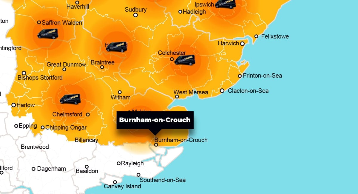 Burnham-on-Crouch phone repair - call-out service coverage area