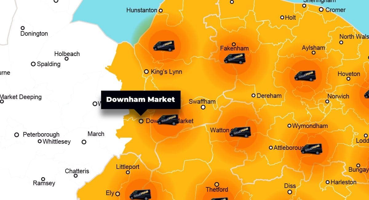 Downham Market phone repair - call-out service coverage area