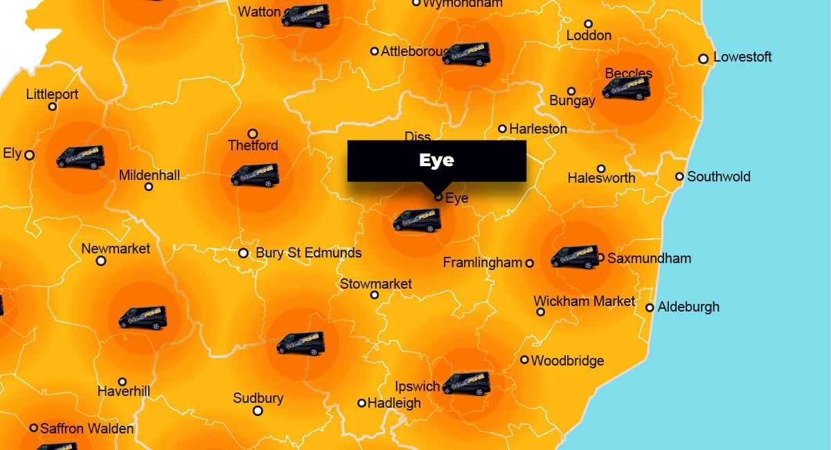 Eye phone repair - call-out service coverage area