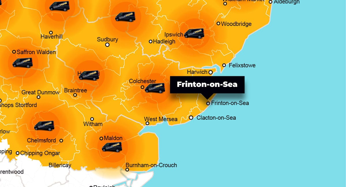Frinton-on-Sea phone repair - call-out service coverage area