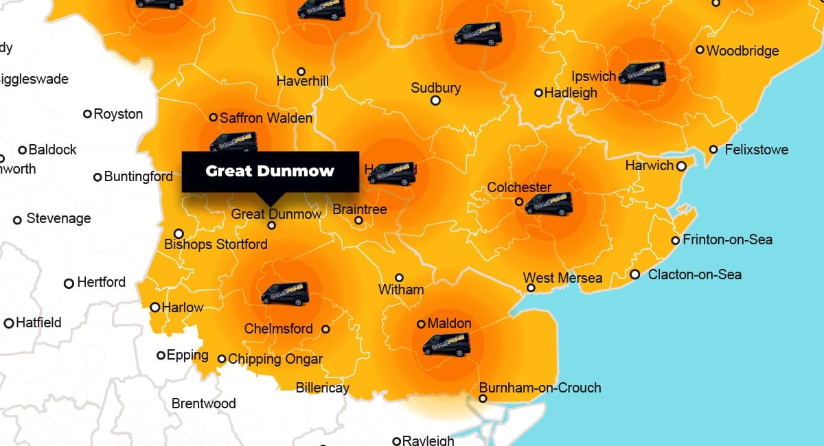 Great Dunmow phone repair - call-out service coverage area