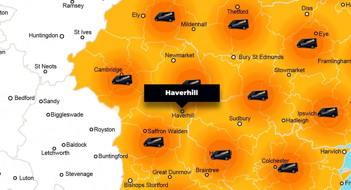 Haverhill phone repair - call-out service coverage area
