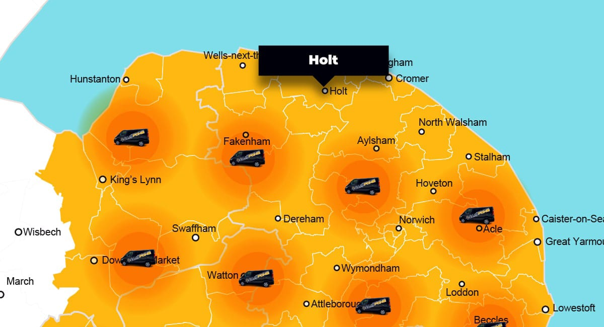 Holt phone repair - call-out service coverage area