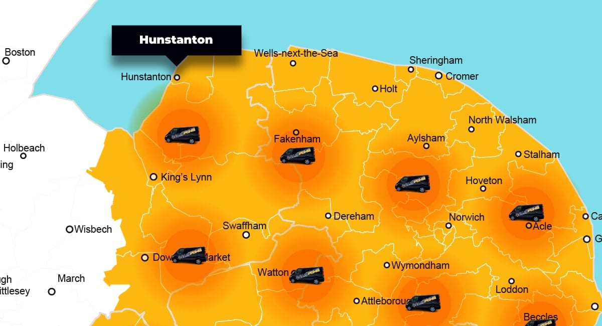 Hunstanton phone repair - call-out service coverage area