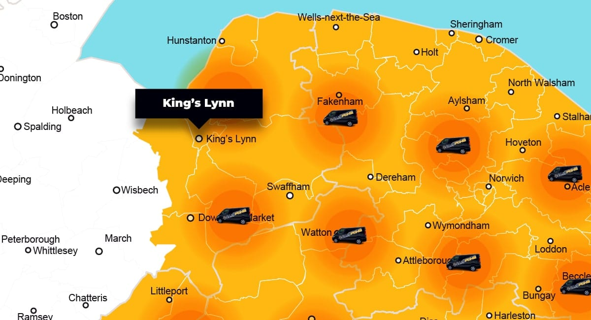 King's Lynn phone repair - call-out service coverage area