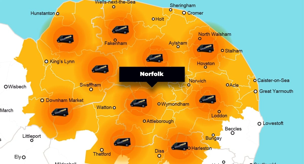 Norfolk phone repair - call-out service coverage area
