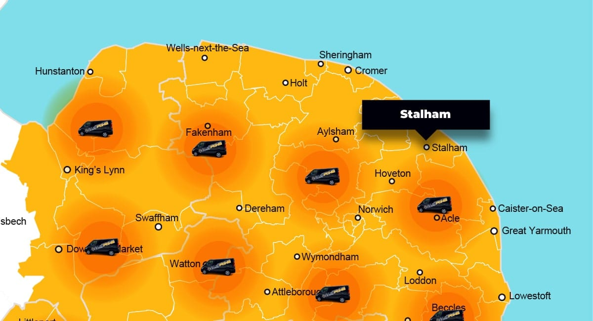Stalham phone repair - call-out service coverage area