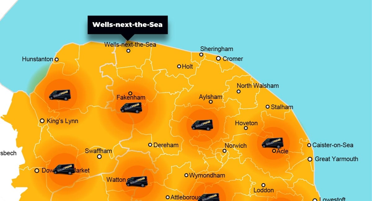 Wells-next-the-Sea phone repair - call-out service coverage area