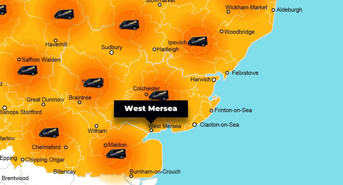 West Mersea phone repair - call-out service coverage area